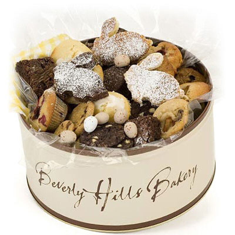 Easter gift tins for delivery to the london area by beverly hills bakery the easter gift tin in addition to our classic range of muffins brownies and cookies has a special collection of apple cinnamon muffins negle Choice Image