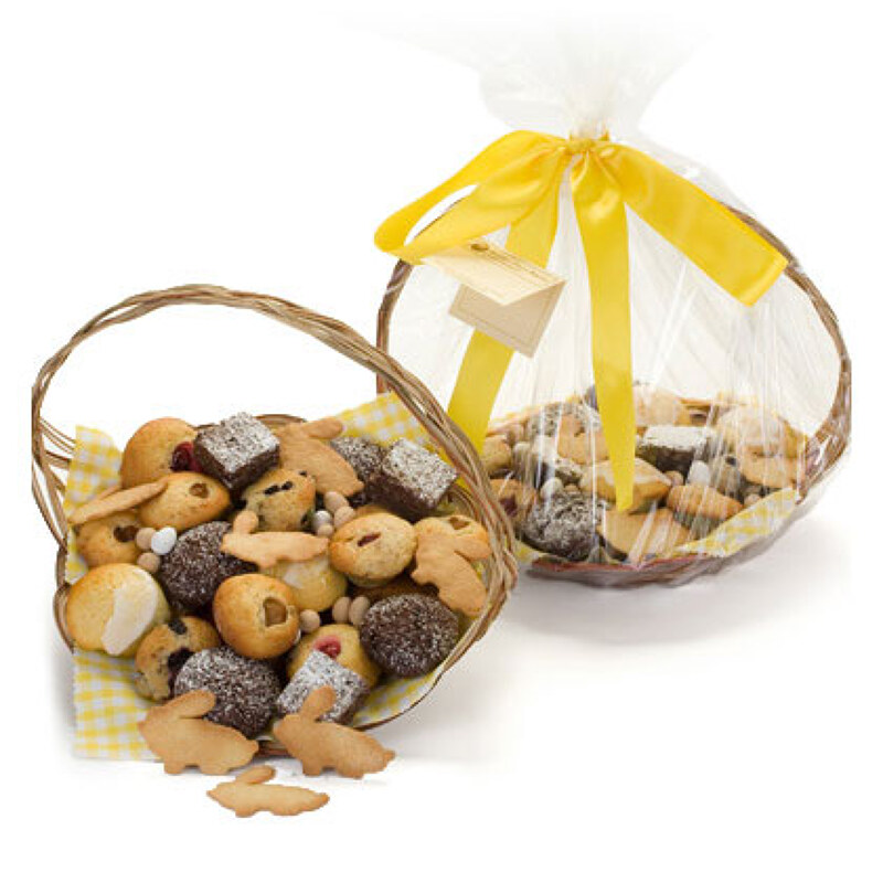 Easter gift baskets for delivery to the london area by beverly the easter bakery basket in addition to our classic range of muffins brownies and cookies has a special collection of apple cinnamon muffins negle Gallery